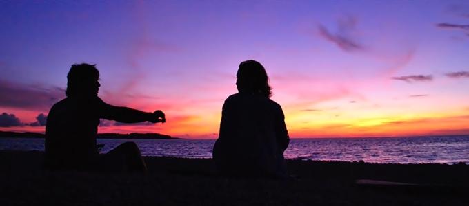 西表島の夕焼け