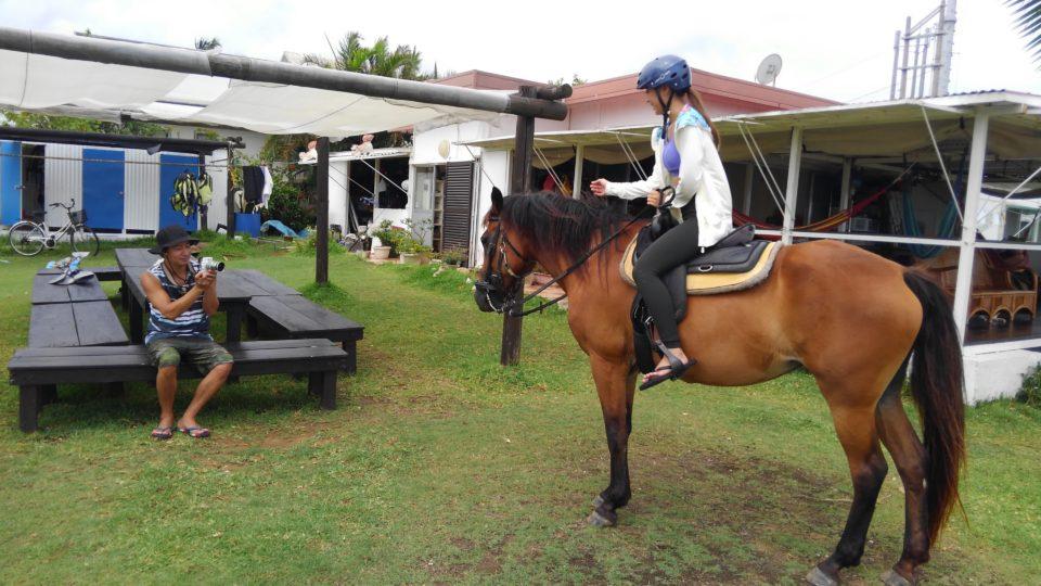 南国の乗馬