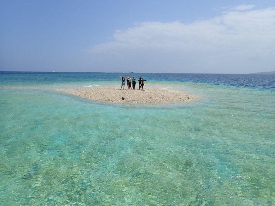 珊瑚の島に上陸