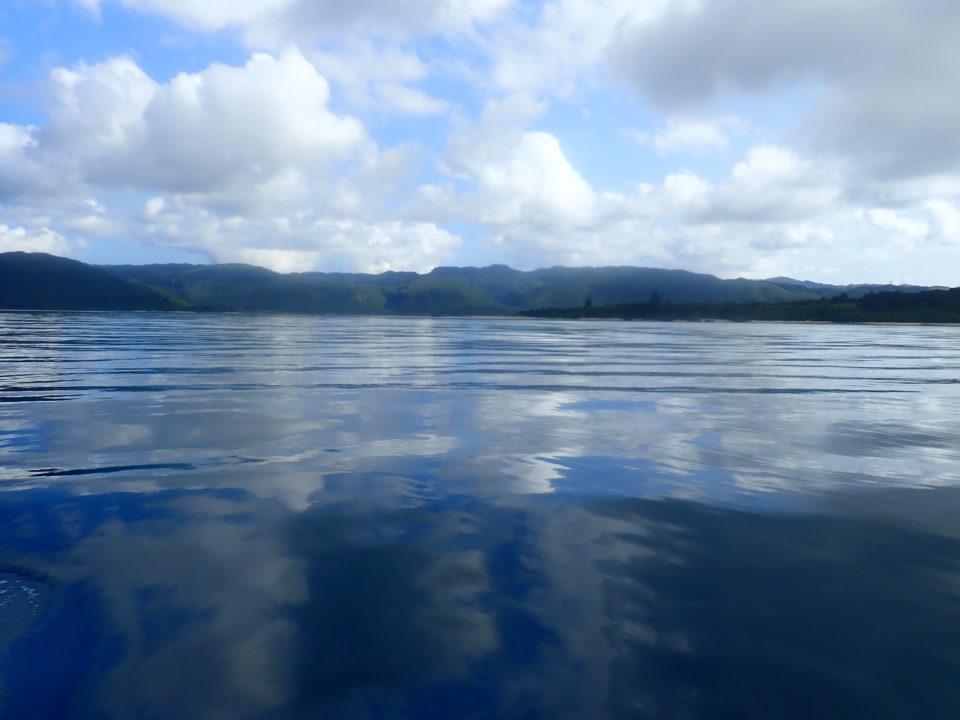 ベタ凪の西表島
