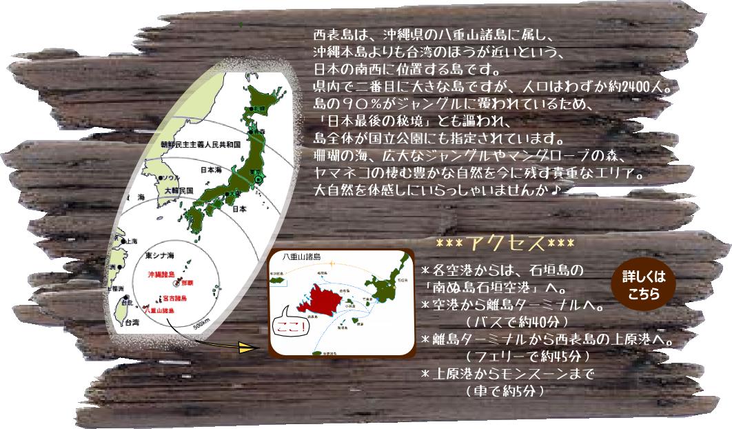 西表島の地図 離島の概要