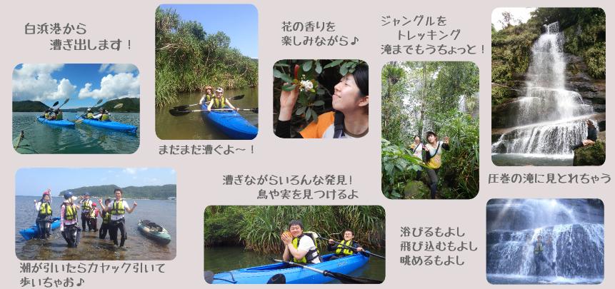 ナーラの滝カヤック漕ぎまくりツアーの行程