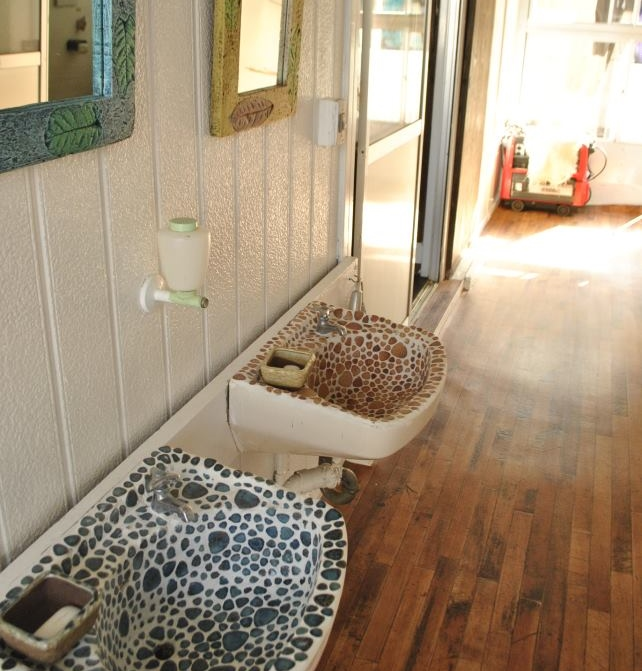 民宿の洗面台