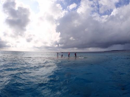 高潮のバラス島