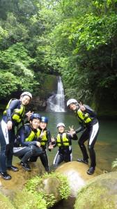 アダナデの滝集合写真